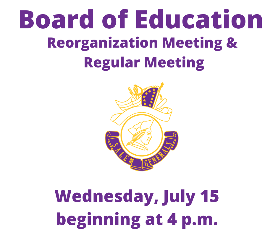 Click Here to Join the Reorganization and Board of Education Meeting